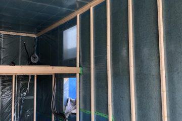 Karkasinio namo siena yra šiltinama stiklo vata arba akmens vata. Karkasinio namo sienų šiltinimas – tai labai atsakingas darbas, norint kad namuose būtu šilta ir jauku. Karkasinio namo sienos ir stogas labiausiai kontaktuoja su išorine aplinka ir tokiu būdu gali praleisti šaltį. Norint turėti šiltus namus reikia pasirūpinti ne tik šiltinimo medžiaga, bet ir jos apsauga, iš vidaus montuojama garo izoliacija, iš lauko difuzinėplėvelė ir apsauga nuo vėjo.